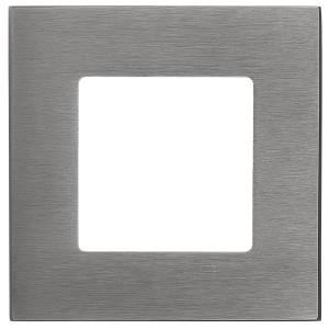 Рамка квадратная на 1 пост гор/верт Soho Fede, матовый графит