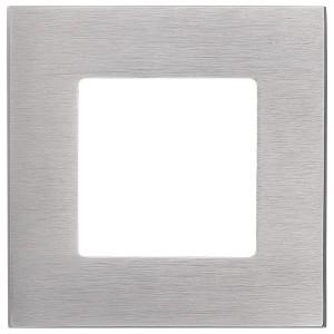 Рамка квадратная на 1 пост гор/верт Soho Fede, матовый никель