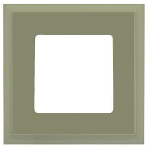Рамка квадратная на 1 пост гор/верт Marco Fede, зеленая олива