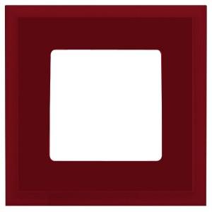 Рамка квадратная на 1 пост гор/верт Marco Fede, красное вино