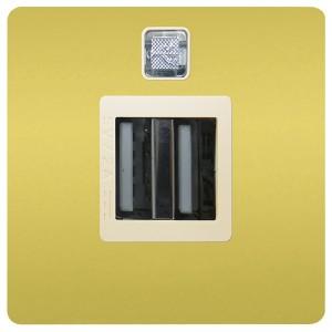 Зарядное устройство 2хUSB 2А Fede Bright Gold/бежевый