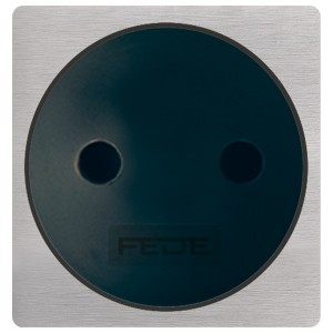 Клавиша широкая для жалюзи Soho Fede  Brushed Nickel черный