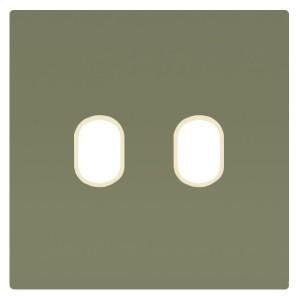 Накладка для 2-х тумблеров Marco Fede Green Olive бежевый