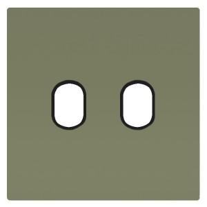 Накладка для 2-х тумблеров Marco Fede Green Olive черный