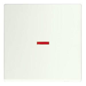Клавиша для 1-клавишного выключателя с красной линзой ABB future белый бархат (1789-884)