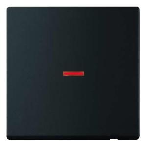 Клавиша для 1-клавишного выключателя с красной линзой ABB future черный бархат (1789-885)