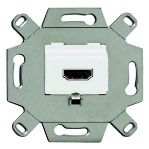 Механизм HDMI-розетки type A  Full HD 20 полюсов АВВ (0261/32-500) альпийский белый
