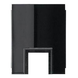 Адаптер для кабельного ввода 1-местн. для канала 15x15мм Gira Studio Черный глянцевый