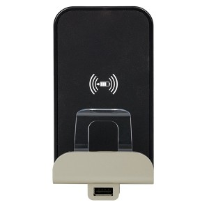 Беспроводное зарядное устройство Qi 1А с доп.разьемом USB A 5В 2,4А. Legrand Etika слоновая кость