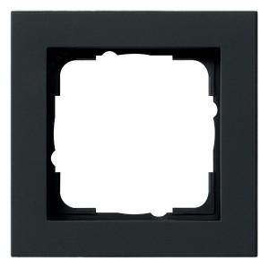 Рамка 1-ая Gira E2 Черный матовый