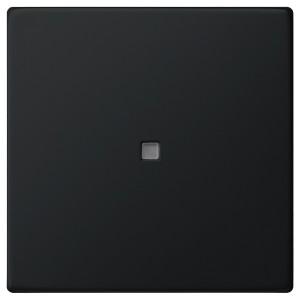 Клавиша 1-ая с подсветкой для выключателей и кнопок System 55 Gira Черный матовый