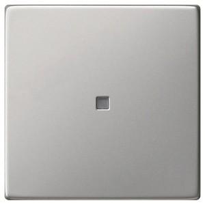 Клавиша 1-ая с подсветкой для выключателей и кнопок System 55 Gira Нержавеющая сталь