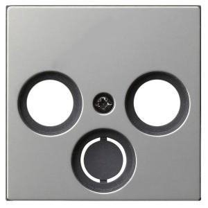 Накладка TV-FM-(SAT) розетки System 55+E22 Gira Нержавеющая сталь