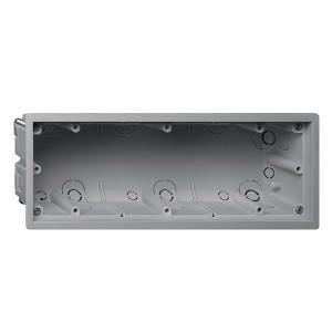 Коробка универсальная Gira  для монтажа рамок серий E2 и E22 заподлицо 3-местная