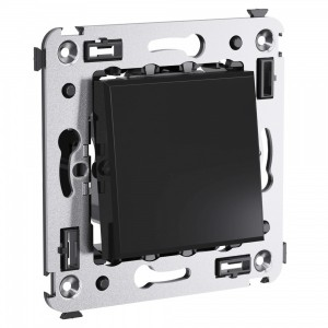 Выключатель одноклавишный в стену DKC Avanti, черный квадрат