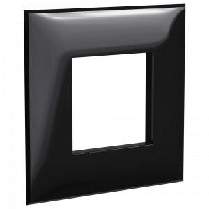 Рамка 2 модуля DKC Avanti, черный квадрат
