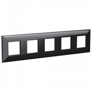 Рамка 10 модуля DKC Avanti, черный квадрат