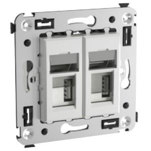 Зарядное устройство USB в стену 5В,2,1А  DKC Avanti, белое облако