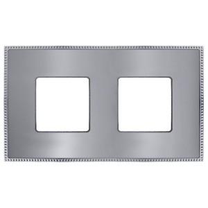 Рамка 2-ная Fede Belle Epoque Metal, bright chrome+bright chrome