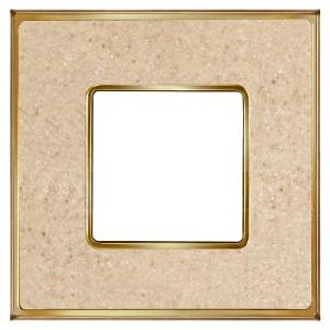 Рамка 1-ная Fede Vintage Corinto, auroramarble-bright gold