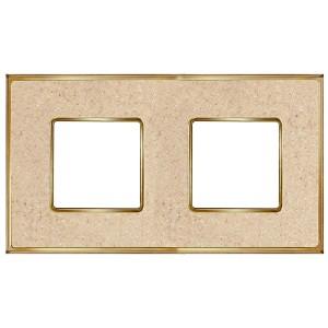 Рамка 2-ная Fede Vintage Corinto, auroramarble-bright gold