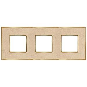 Рамка 3-ная Fede Vintage Corinto, auroramarble-bright gold