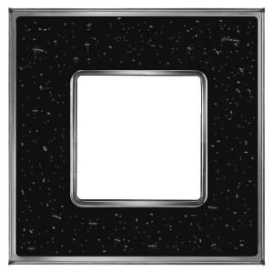 Рамка 1-ная Fede Vintage Corinto, blackquartz-bright chrome