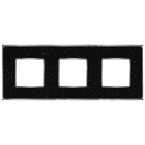 Рамка 3-ная Fede Vintage Corinto, blackquartz-bright chrome