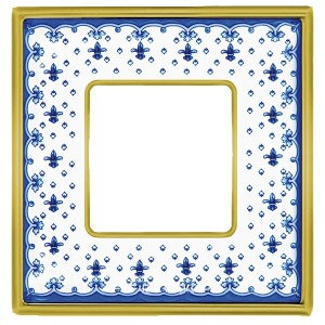 Рамка 1-ная Fede Vintage Tapestry Porcelain, blue lys - bright gold