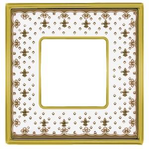 Рамка 1-ная Fede Vintage Tapestry Porcelain, brown lys - bright gold