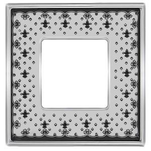Рамка 1-ная Fede Vintage Tapestry Porcelain, black lys - bright chrome