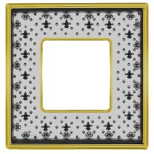 Рамка 1-ная Fede Vintage Tapestry Porcelain, black lys - bright gold