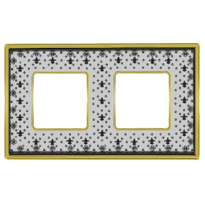 Рамка 2-ная Fede Vintage Tapestry Porcelain, black lys - bright gold