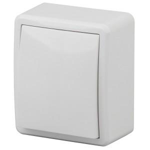 Выключатель с подсветкой 10АХ-250В IP20 открытой установки Эра Эксперт, белый 11-1202-01