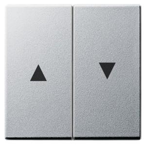 Клавиша 2-ая жалюзийная со стрелками System 55 Gira алюминий