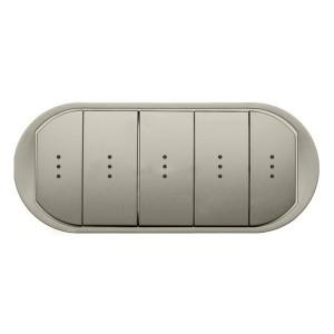 Клавиша выключателя 5-клавишного с индикатором Legrand Celiane титан
