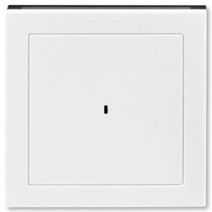 Накладка ABB Levit для выключателя карточного белый / дымчатый чёрный (3559H-A00700 62)