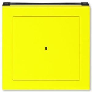 Накладка ABB Levit для выключателя карточного жёлтый / дымчатый чёрный (3559H-A00700 64)