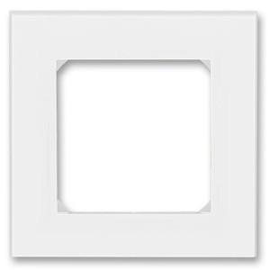 Рамка ABB Levit 1 пост белый / ледяной