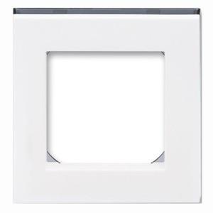 Рамка ABB Levit 1 пост белый / дымчатый чёрный