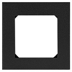 Рамка ABB Levit 1 пост антрацит / дымчатый чёрный