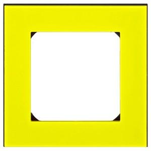 Рамка ABB Levit 1 пост жёлтый / дымчатый чёрный