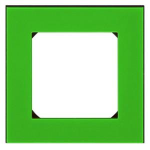Рамка ABB Levit 1 пост зелёный / дымчатый чёрный