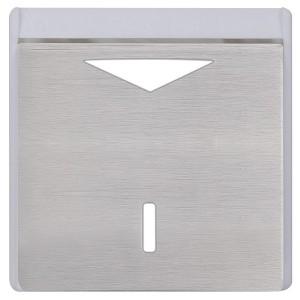Карточный выключатель механический в отделке Soho Fede Brushed Nickel белый