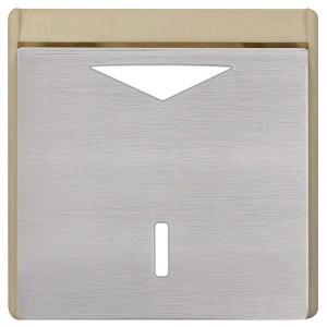 Карточный выключатель механический в отделке Soho Fede Brushed Nickel бежевый