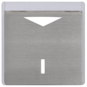Карточный выключатель механический в отделке Soho Fede Brushed Graphite белый