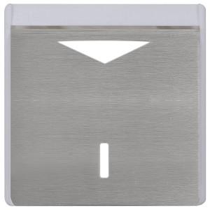 Карточный выключатель механический в отделке Soho Fede Brushed Graphite бежевый