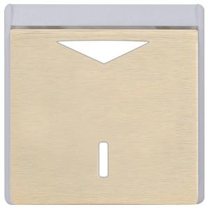 Карточный выключатель механический в отделке Soho Fede Brushed Brass белый