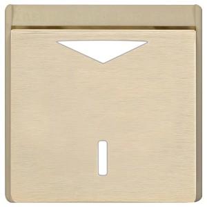 Карточный выключатель механический в отделке Soho Fede Brushed Brass бежевый