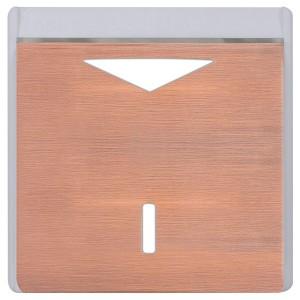 Карточный выключатель механический в отделке Soho Fede Brushed Copper белый